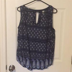 XL old navy sleeveless blouse